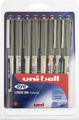 MITSUBISHI PENCIL CO Eye UB-157 fine rollerball pens 8 pack