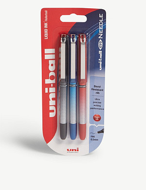 MITSUBISHI PENCIL CO Eye needle pen pack of three