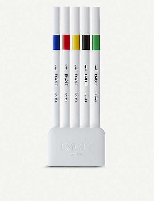 EMOTT Ever Fine primary colour fineliner set of five