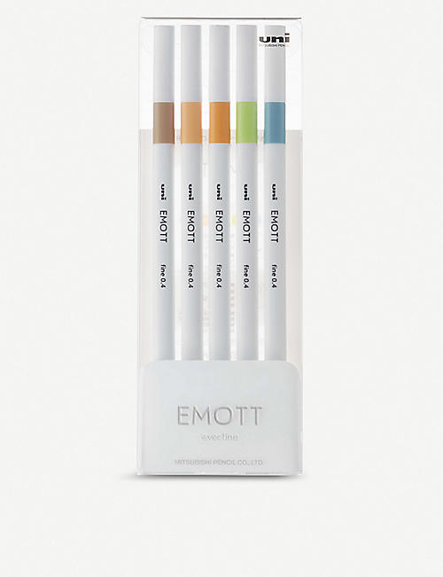 EMOTT Ever Fine neutral pastel fineliner set of five