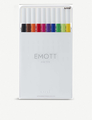 EMOTT Ever Fine primary colour fineliner set of 10