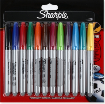 SHARPIE Pack of 12 Fine permanent markers