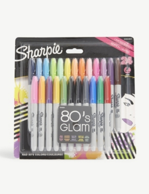 SHARPIE 80s Glam permanent markers pack of 24