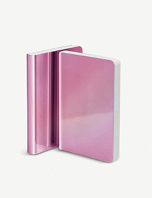 NUUNA Pearlescent rose bonded leather notebook 10.8cm x 15cm