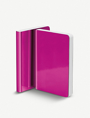 NUUNA Metallic faux-leather notebook 11x15cm