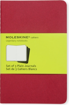 MOLESKINE Plain journal triple pack