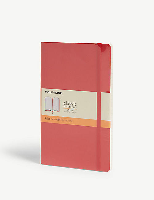 MOLESKINE: Classic soft-cover ruled notebook 21cm x 13cm