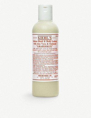 KIEHL'S Grapefruit deluxe hand and body lotion with Aloe Vera and Oatmeal 250ml