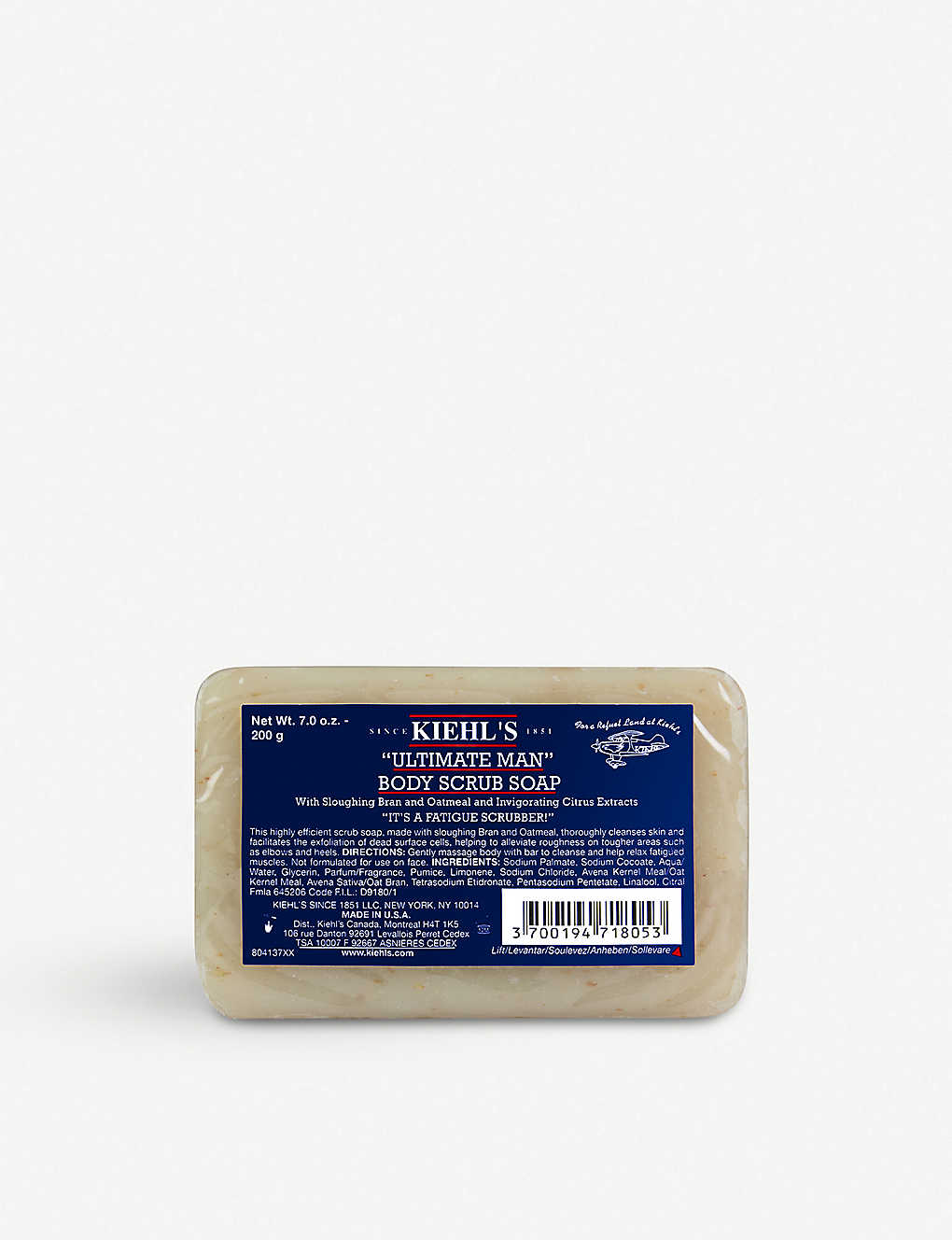 KIEHL'S: Ultimate Man Body Scrub Soap 200g