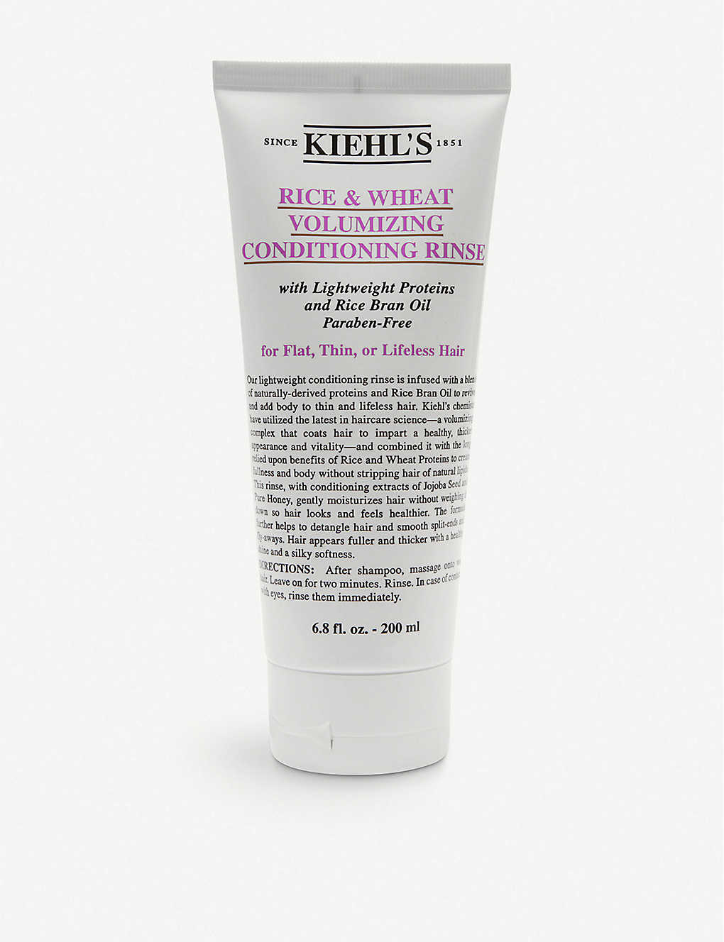 KIEHL'S: Rice and Wheat volumising conditioner 200ml
