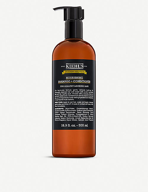 KIEHL'S: Grooming Solutions Nourishing Shampoo & Conditioner 500ml