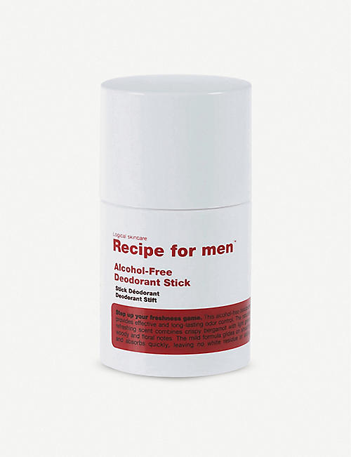 RECIPE FOR MEN: Alcohol free deodorant stick 75ml