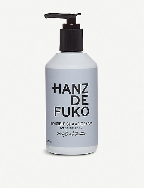 HANZ DE FUKO: Invisible Shave Cream 237ml