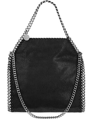 STELLA MCCARTNEY: Mini Falabella faux-suede tote