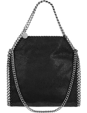 STELLA MCCARTNEY Mini Falabella 人造麂皮托特包