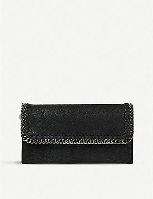 STELLA MCCARTNEY:Falabella 人造麂皮长款钱包