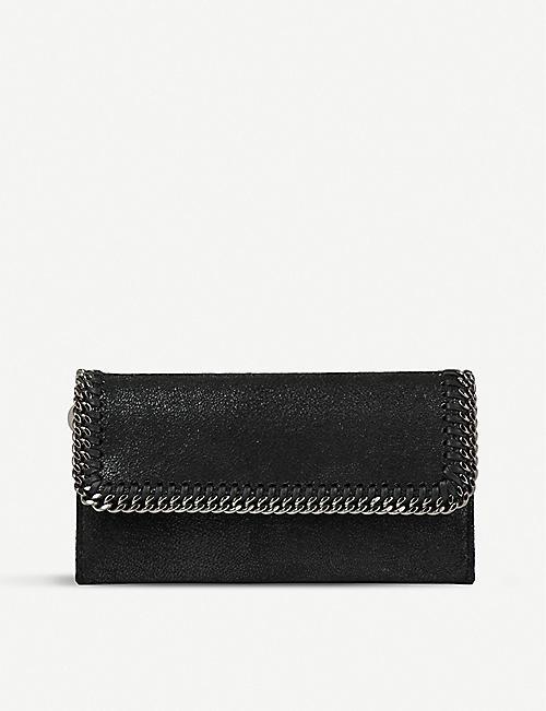 STELLA MCCARTNEY Falabella faux-suede continental wallet 4ede5669cb3d3