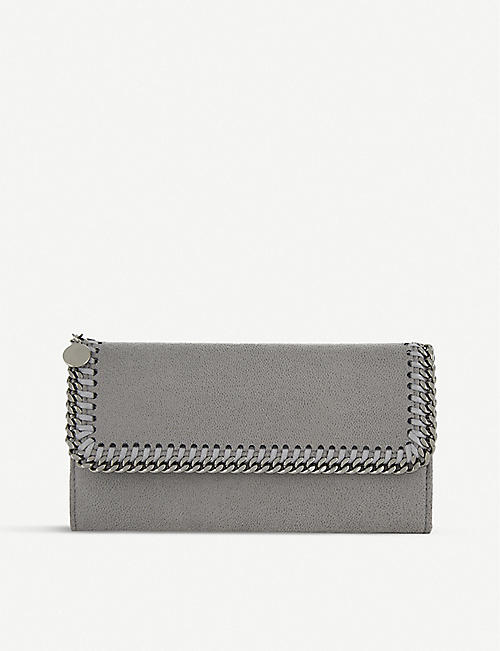 0625dcaff7 STELLA MCCARTNEY Falabella faux-suede continental wallet