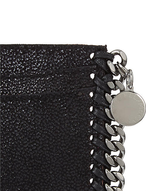 STELLA MCCARTNEY Falabella faux-suede card holder
