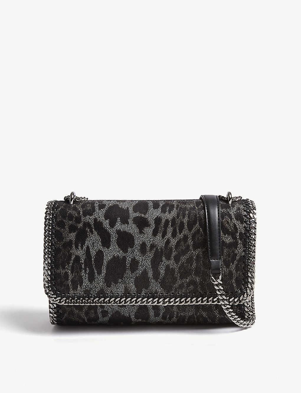 02d4b092afc9 STELLA MCCARTNEY - Falabella leopard-print faux-suede shoulder bag ...