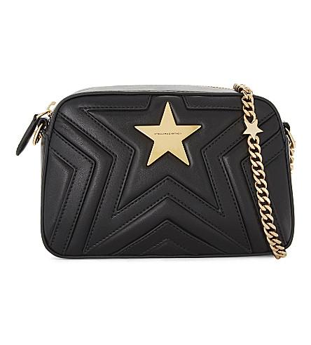 6ef383945def STELLA MCCARTNEY Star faux-leather cross-body camera bag (Black