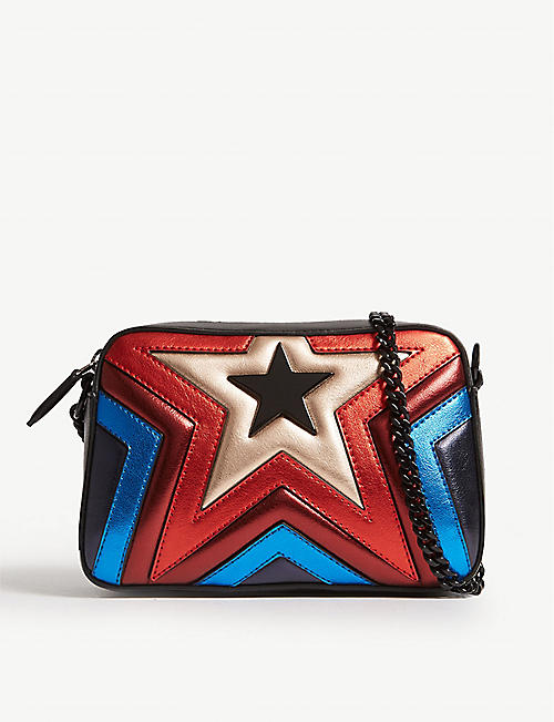 15bc65cb2938 STELLA MCCARTNEY Rainbow star faux-leather camera bag
