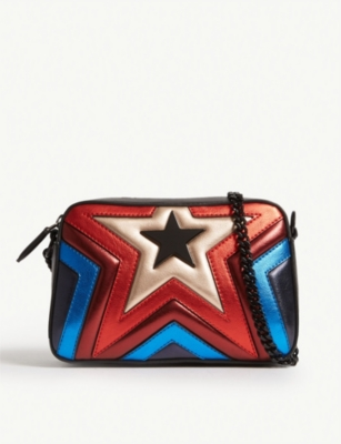 STELLA MCCARTNEY Rainbow star faux-leather camera bag