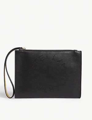 STELLA MCCARTNEY Perforated faux-leather pouch