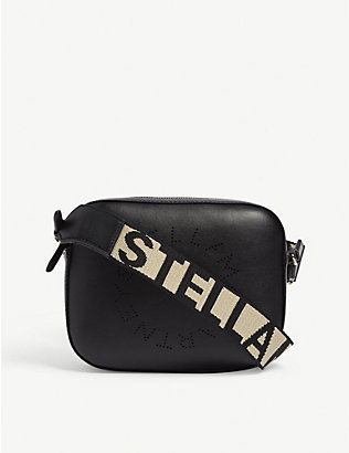 STELLA MCCARTNEY: Embossed logo camera bag