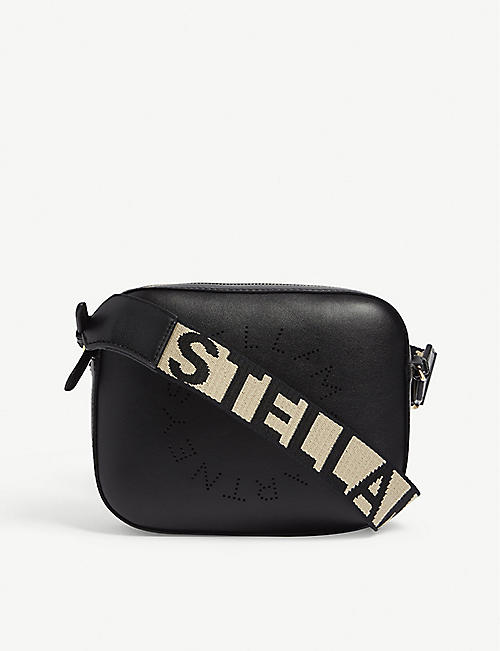 STELLA MCCARTNEY: Logo mini faux-leather cross-body camera bag