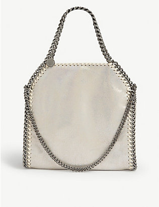 STELLA MCCARTNEY: Holographic mini Falabella tote bag