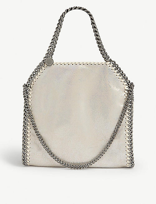 STELLA MCCARTNEY Holographic mini Falabella tote bag