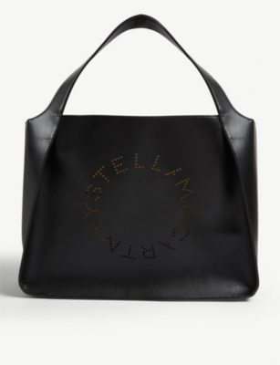 STELLA MCCARTNEY Perforated logo small tote
