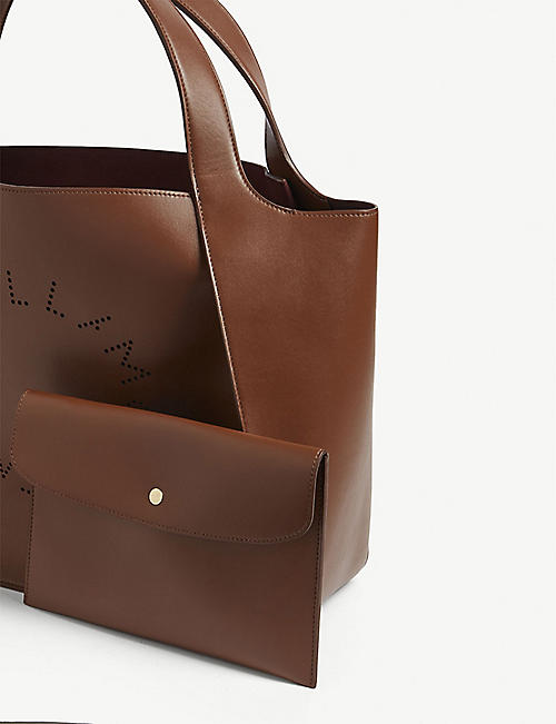STELLA MCCARTNEY Perforated logo tote bag