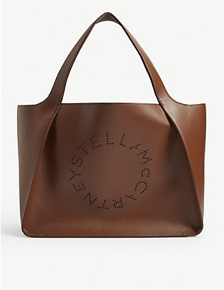 STELLA MCCARTNEY: Perforated logo tote bag