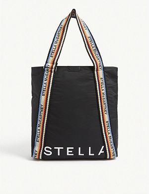 STELLA MCCARTNEY Pufer woven tote bag