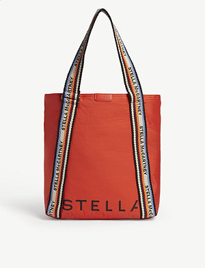 STELLA MCCARTNEY Logo-printed padded nylon tote bag