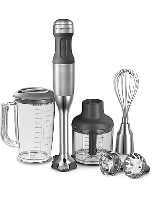 KITCHENAID Almond Cream Artisan five-speed hand blender stainless steel