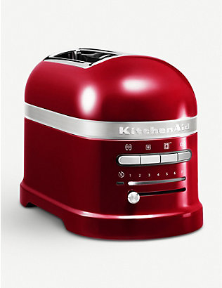 KITCHENAID: Candy Apple Artisan two-slot toaster