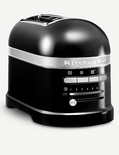 KITCHENAID: Onyx black Artisan 2 slot toaster