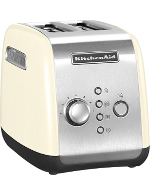 KITCHENAID Almond Cream two-slot toaster