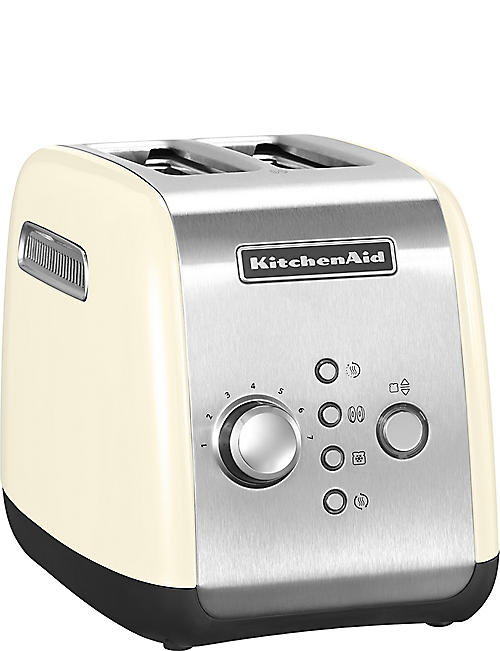 KITCHENAID: Almond Cream two-slot toaster