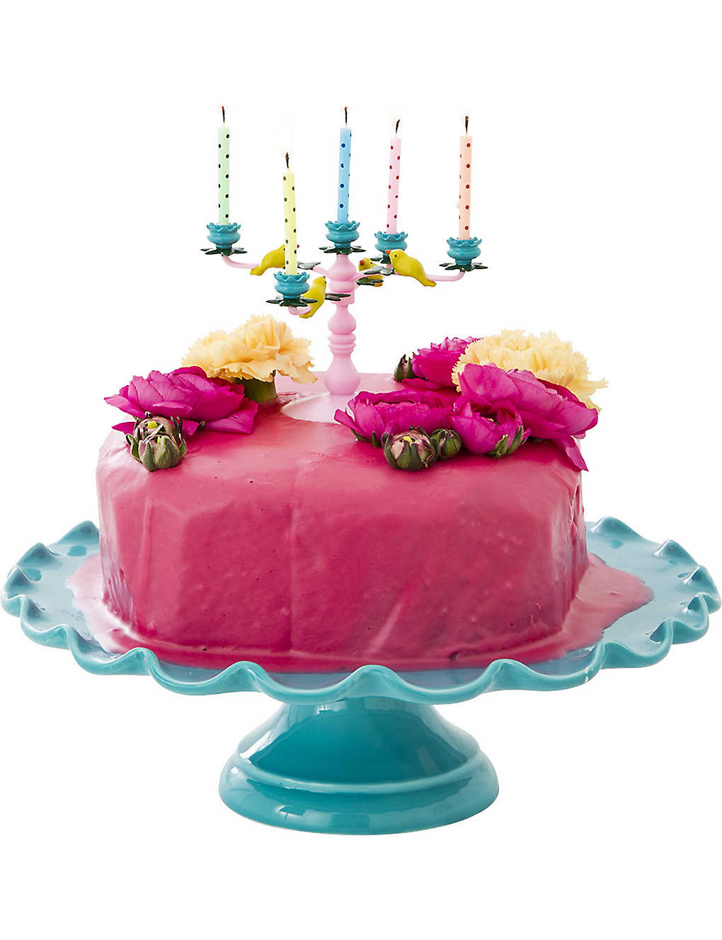 Cake Candelabra With 10 Candles Zoom