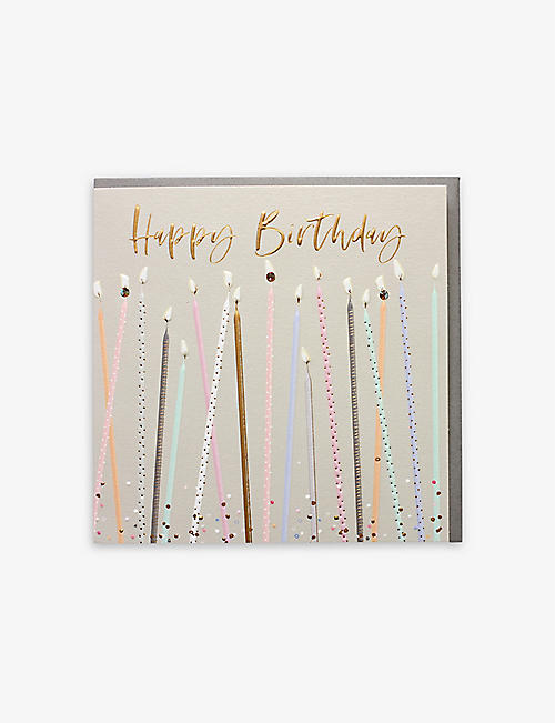 BELLY BUTTON DESIGNS: Happy Birthday Candles gift card 16.5cm