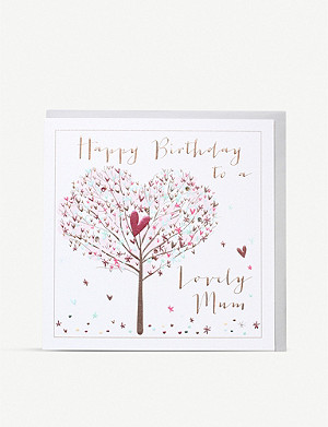 BELLY BUTTON DESIGNS Lovely Mum greetings card 21x21cm