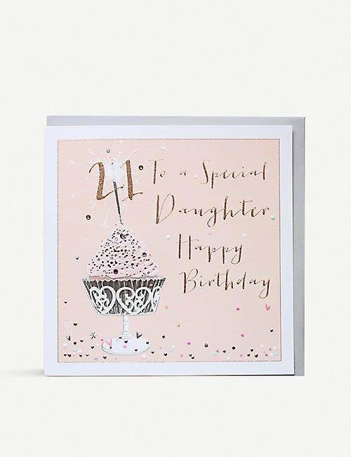 BELLY BUTTON DESIGNS 21 Special Daughter greetings card 21x21cm