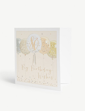 BELLY BUTTON DESIGNS 80th big birthday card