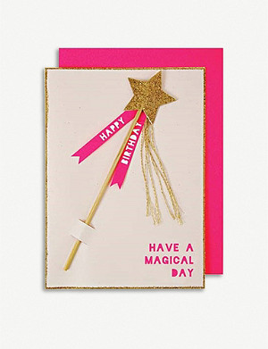 MERI MERI Magic Wand Birthday greetings card 13x18cm