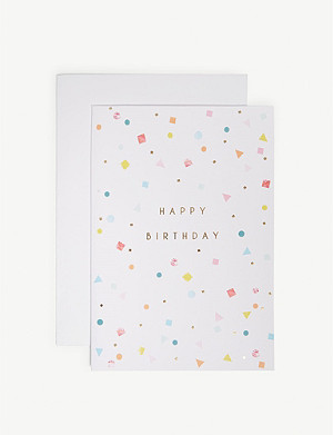 MERI MERI Confetti birthday card