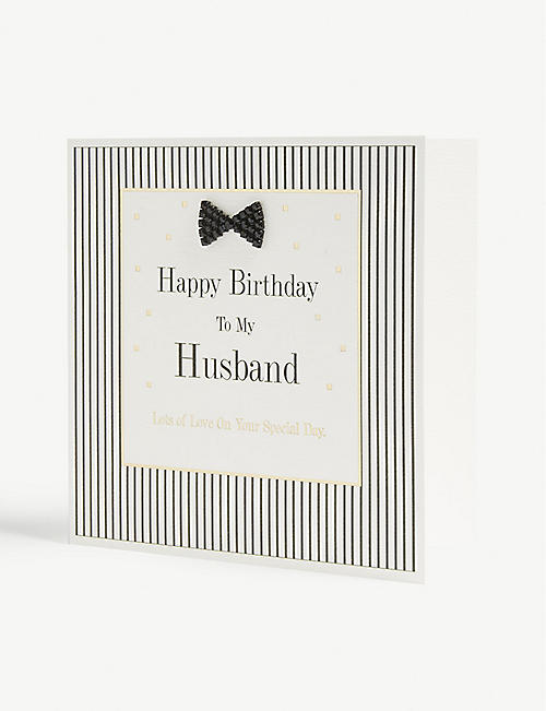 MAD DOTS Happy Birthday Husband card